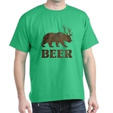 Bear+Deer=Beer Vintage T-Shirt