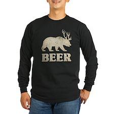 Bear+Deer=Beer Vintage T
