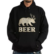 Bear+Deer=Beer Vintage Hoodie