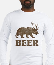 Bear+Deer=Beer Vintage Long Sleeve T-Shirt