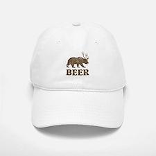 Bear+Deer=Beer Vintage Baseball Baseball Cap