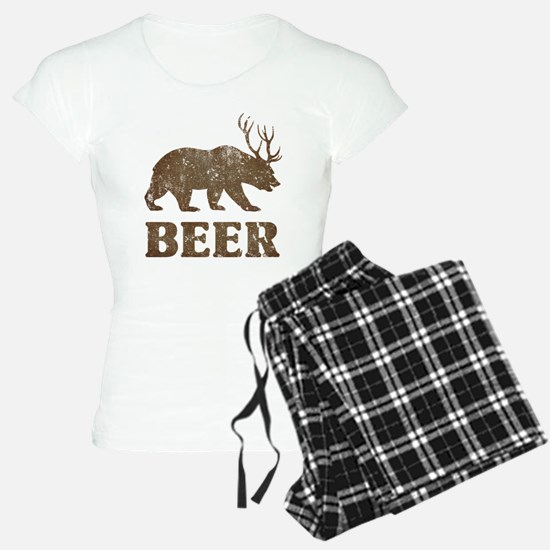 Bear+Deer=Beer Vintage pajamas