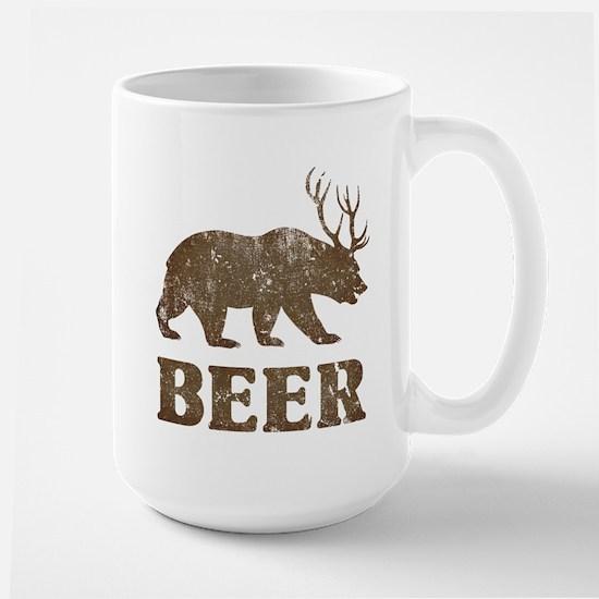 Bear+Deer=Beer Vintage Large Mug
