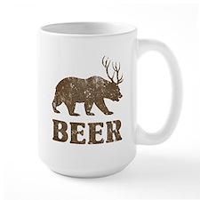 Bear+Deer=Beer Vintage Mug