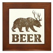 Bear+Deer=Beer Vintage Framed Tile