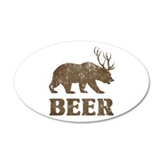Bear+Deer=Beer Vintage Wall Sticker