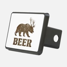 Bear+Deer=Beer Vintage Hitch Cover