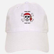 PERSONALIZE Funny Pirate Baseball Baseball Cap