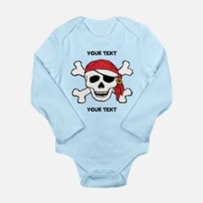 PERSONALIZE Funny Pirate Long Sleeve Infant Bodysu