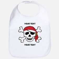 PERSONALIZE Funny Pirate Bib