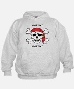 PERSONALIZE Funny Pirate Hoodie