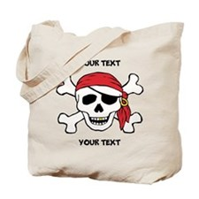 PERSONALIZE Funny Pirate Tote Bag