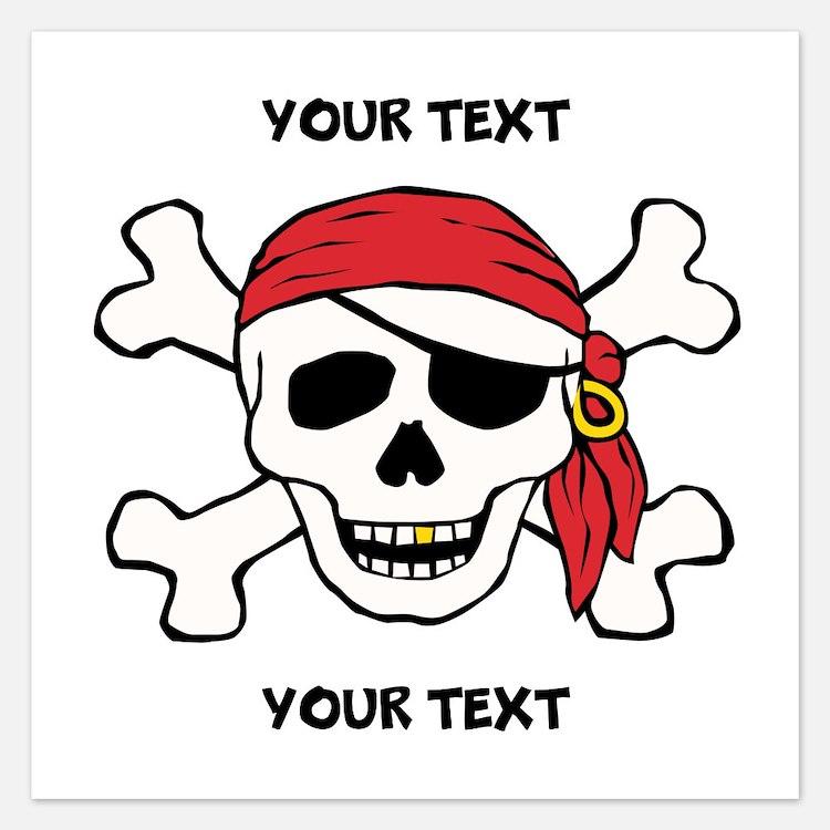 PERSONALIZE Funny Pirate Invitations
