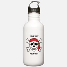PERSONALIZE Funny Pirate Sports Water Bottle