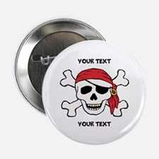 "PERSONALIZE Funny Pirate 2.25"" Button (100 pack)"