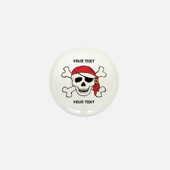 PERSONALIZE Funny Pirate Mini Button