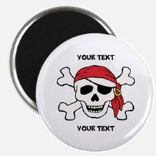 PERSONALIZE Funny Pirate Magnet