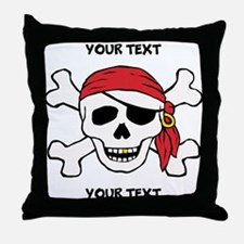 PERSONALIZE Funny Pirate Throw Pillow
