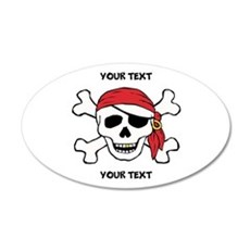PERSONALIZE Funny Pirate Wall Decal