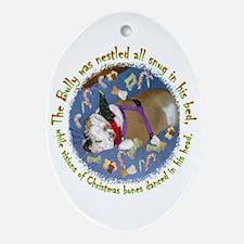 Night Before Christmas Bulldog Oval Ornament