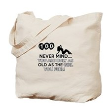 100th year old birthday designs Tote Bag