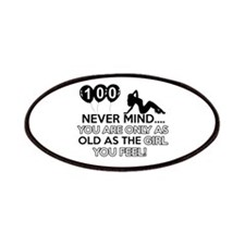 100th year old birthday designs Patches