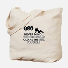 102th year old birthday designs Tote Bag