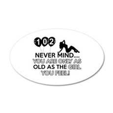 102th year old birthday designs Wall Decal