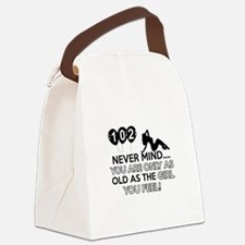 102th year old birthday designs Canvas Lunch Bag