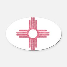 New Mexico State Flag Oval Car Magnet