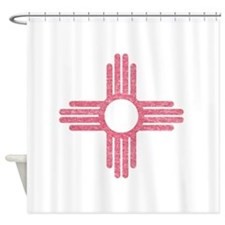 New Mexico State Flag Shower Curtain