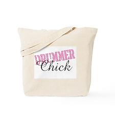 Pink Drummer Chick Girl Drums Tote Bag