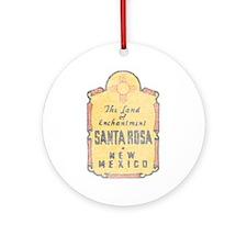 Faded Santa Rosa NM Ornament (Round)