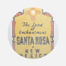 Faded Santa Rosa NM Ornament (Round)