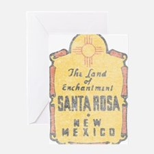 Faded Santa Rosa NM Greeting Card