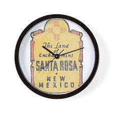 Faded Santa Rosa NM Wall Clock
