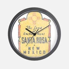Faded Santa Rosa NM Wall Clock