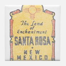 Faded Santa Rosa NM Tile Coaster