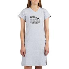 105th year old birthday designs Women's Nightshirt
