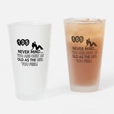 105th year old birthday designs Drinking Glass