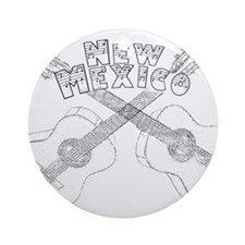New Mexico Guitars Ornament (Round)