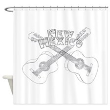 New Mexico Guitars Shower Curtain