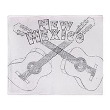 New Mexico Guitars Throw Blanket