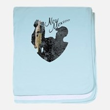 New Mexico Fishing baby blanket
