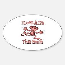 I love Aliza Sticker (Oval)