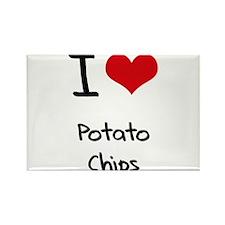 I Love Potato Chips Rectangle Magnet
