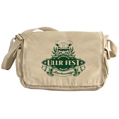 Ullr Fest Ullr Emblem Green Messenger Bag