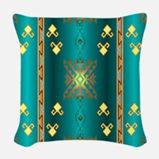 Sun In Winter Blanket Design Woven Throw Pillow