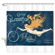 Cycles Gladiator, Bicycle, Vintage Poster Shower C