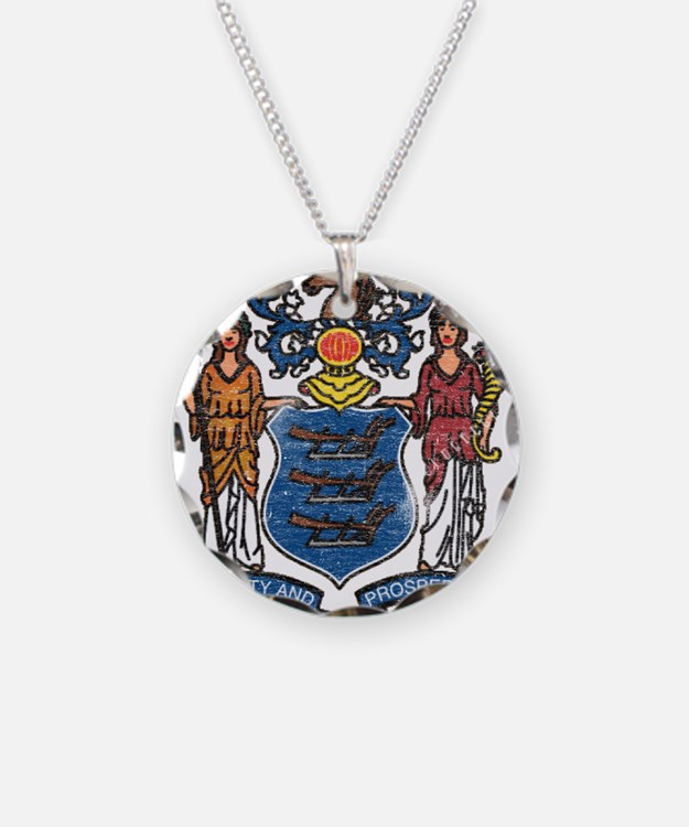 New Jersey State Flag Necklace